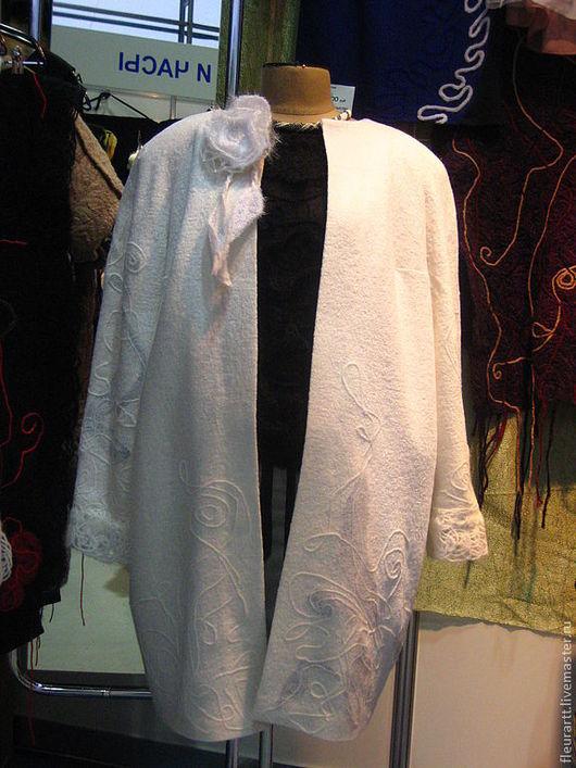 """Верхняя одежда ручной работы. Ярмарка Мастеров - ручная работа. Купить Легкое пальто """"Эллегия"""". Handmade. Белый"""