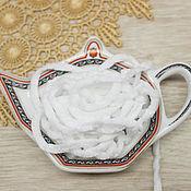 Материалы для творчества handmade. Livemaster - original item Accessories for embroidery: Chenille 5 mm polyester Christmas snow 1 meter. Handmade.