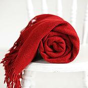 Для дома и интерьера ручной работы. Ярмарка Мастеров - ручная работа Плед шерстяной красный. Handmade.