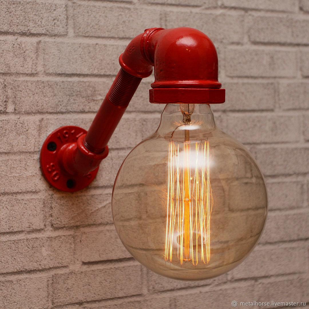 Настенный светильник в стиле лофт, индастриал, стимпанк, ретро, Освещение, Москва, Фото №1
