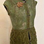 Одежда ручной работы. Ярмарка Мастеров - ручная работа Длинный жилет в смешанной технике «Эльфийский стиль». Handmade.