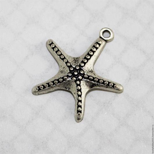 Металлическая подвеска `Морская звезда `
