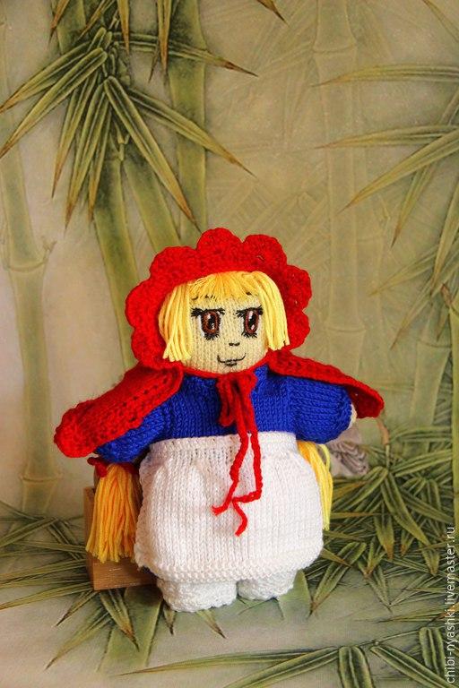 Человечки ручной работы. Ярмарка Мастеров - ручная работа. Купить Вязаная игрушка. Кукла Красная Шапочка. Handmade. Ярко-красный