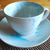 """Посуда ручной работы. Ярмарка Мастеров - ручная работа Чайно-бульонная пара  """"Большая""""Продана. Handmade."""