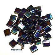 Материалы для творчества handmade. Livemaster - original item 5 grams Tila 455 blue Japanese beads Miyuki Miyuki radue of metallizers. Handmade.