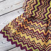 Аксессуары handmade. Livemaster - original item Scarves: autumn scarf stole made of wool Zigzags. Handmade.