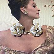 Винтаж handmade. Livemaster - original item Western Germany vintage Clip-on earrings, Germany. Handmade.