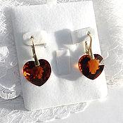Earrings handmade. Livemaster - original item Astor earrings, citrine Madeira of 27,70 carats (pair). Handmade.