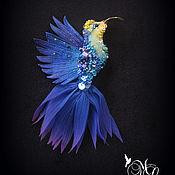 Украшения handmade. Livemaster - original item Brooch.Brooch Hummingbird .. Handmade.