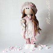 Тыквоголовка ручной работы. Ярмарка Мастеров - ручная работа Интерьерная кукла, вязанная кукла, кукла в розовом. Handmade.