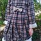 """Одежда для девочек, ручной работы. Ярмарка Мастеров - ручная работа. Купить платье в клетку из шотландки """" КЛЕТКА И КРУЖЕВА"""". Handmade."""