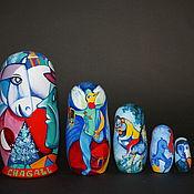 Русский стиль handmade. Livemaster - original item Matryoshka Chagall - Malevich. Handmade.