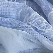 "Аксессуары handmade. Livemaster - original item Голубой льняной  женский палантин из ткани Chanel ""Мечты из роз"". Handmade."