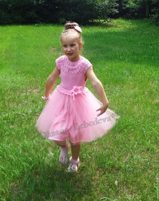 красивое детское платье, нарядное платье для девочки, купить нарядное детское платье, купить праздничное детское платье, купить платье для девочки, вязаное платье крючком купить, платье крючком купить