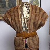 Одежда ручной работы. Ярмарка Мастеров - ручная работа Штолла  из ондатры. Handmade.