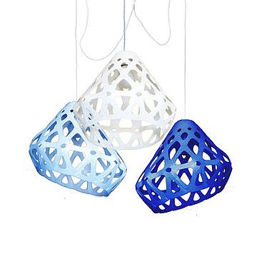 Для дома и интерьера ручной работы. Ярмарка Мастеров - ручная работа ZAHA LIGHT трехцветная трехрожковая люстра 2. Handmade.