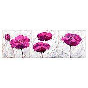 Картины и панно ручной работы. Ярмарка Мастеров - ручная работа триптих Яркие цветы. Handmade.