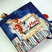 """Канцелярские товары ручной работы. Ярмарка Мастеров - ручная работа Альбом для фото """"Морской"""". Handmade."""