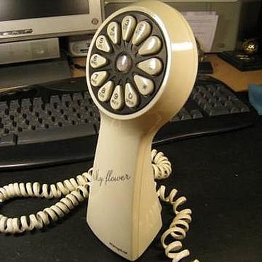 Винтаж ручной работы. Ярмарка Мастеров - ручная работа Винтажный телефонный аппарат,телефон с белого рояля. Handmade.