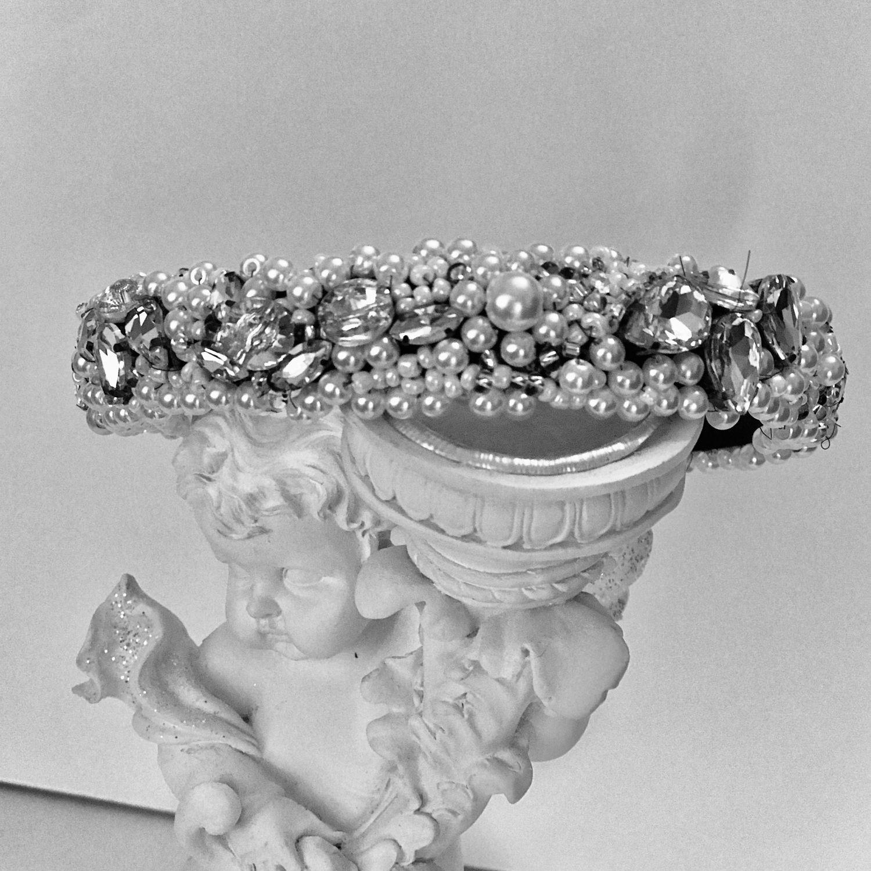ободок с белым жемчугом, Диадемы, Химки,  Фото №1
