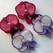 Резинка для волос ручной работы. Ярмарка Мастеров - ручная работа Резиночки для волос- Орхидея. Пара. Handmade.