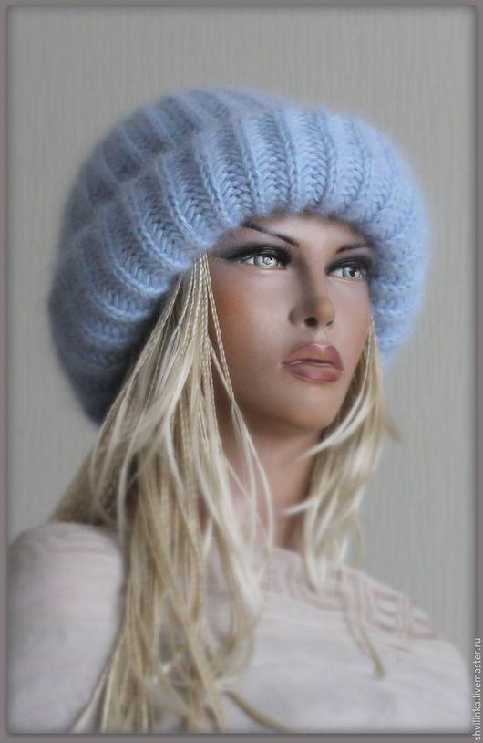 """Шапки ручной работы. Ярмарка Мастеров - ручная работа. Купить Шапка вязаная """"А-ля"""" голубенькая. Handmade. Голубой"""