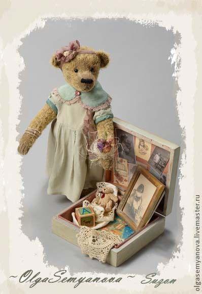 Мишки Тедди ручной работы. Ярмарка Мастеров - ручная работа. Купить мишки Тедди ручной работы. Сюзон. Handmade. бежевый