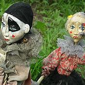 Куклы и игрушки ручной работы. Ярмарка Мастеров - ручная работа Pierrot & Pierrette. Handmade.
