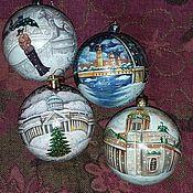 Подарки к праздникам ручной работы. Ярмарка Мастеров - ручная работа Новогодние шарики-Санкт-Петербург и не только. Handmade.