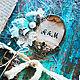 Свадебные фотоальбомы ручной работы. Ярмарка Мастеров - ручная работа. Купить Альбом-блокнот Винтаж. Handmade. Синий, фотоальбом