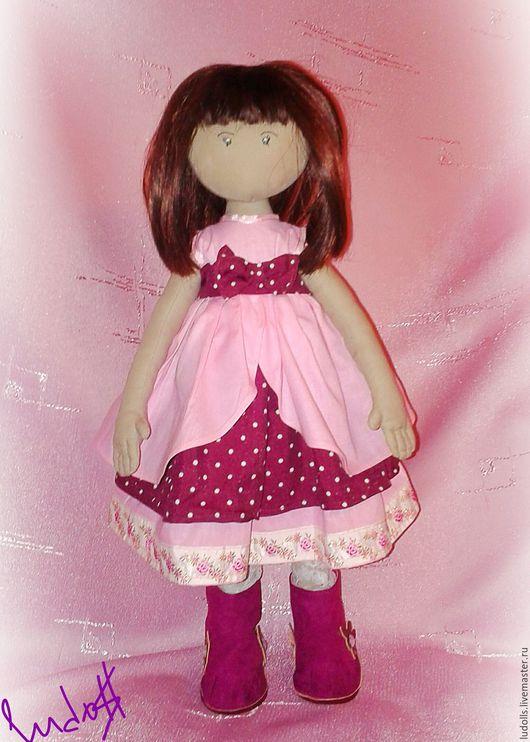 Коллекционные куклы ручной работы. Ярмарка Мастеров - ручная работа. Купить Текстильная игровая  кукла. Handmade. Розовый, кукла
