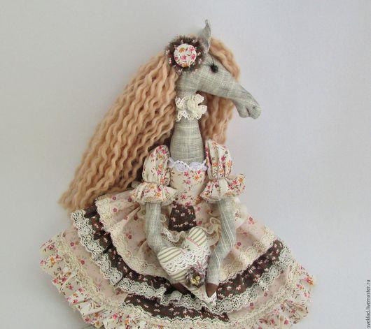 Игрушки животные, ручной работы. Ярмарка Мастеров - ручная работа. Купить Леди лошадка. Handmade. Комбинированный, лошадь текстильная, холлофайбер