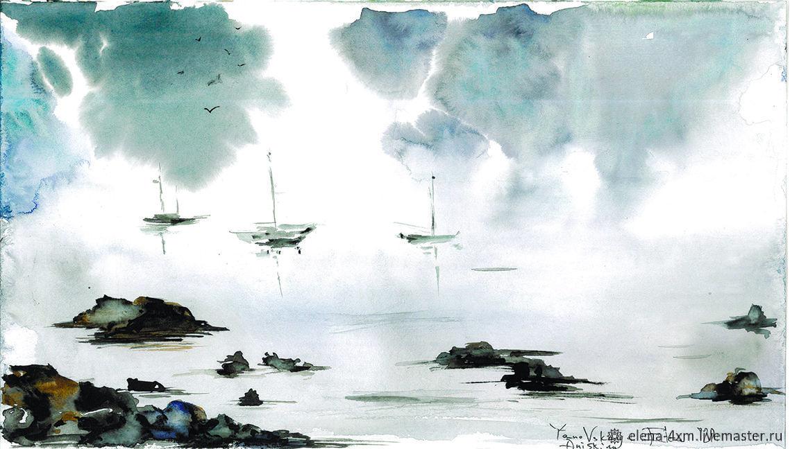 Туман, Иллюстрации рисунки, Москва,  Фото №1