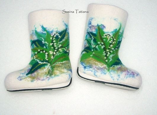 """Обувь ручной работы. Ярмарка Мастеров - ручная работа. Купить Валенки  """"Весенний Ландыш"""". Handmade. 100% шерсть"""