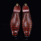 Обувь ручной работы handmade. Livemaster - original item Men`s loafers, author`s design, handmade, bright red color.. Handmade.
