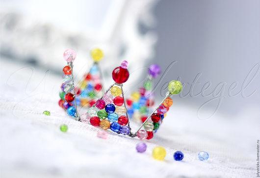Детская бижутерия ручной работы. Ярмарка Мастеров - ручная работа. Купить Разноцветная детская корона из проволоки. Handmade. Корона