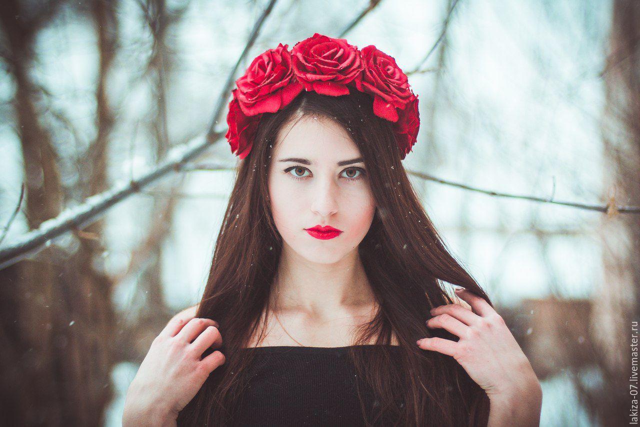 Ободок из розы