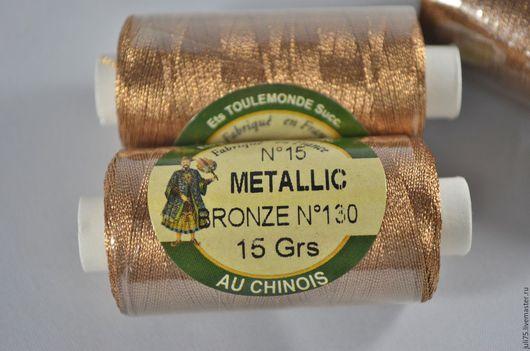 Вышивка ручной работы. Ярмарка Мастеров - ручная работа. Купить Нитки металлизированные, Франция. Handmade. Коричневый, нитки для вышивания