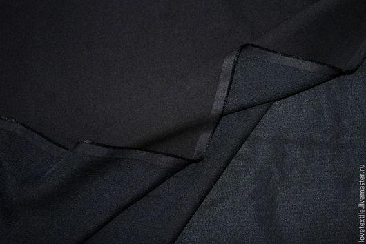 Шитье ручной работы. Ярмарка Мастеров - ручная работа. Купить HV54, Шелк HERMES. Handmade. Черный, итальянский шелк, креп