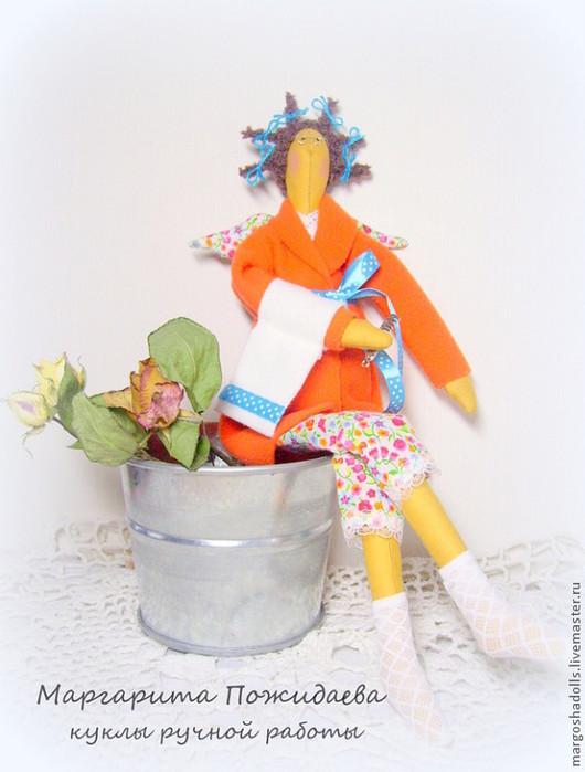 """Куклы Тильды ручной работы. Ярмарка Мастеров - ручная работа. Купить Тильда-банный ангел""""Оранжевое настроение"""". Handmade. Оранжевый"""