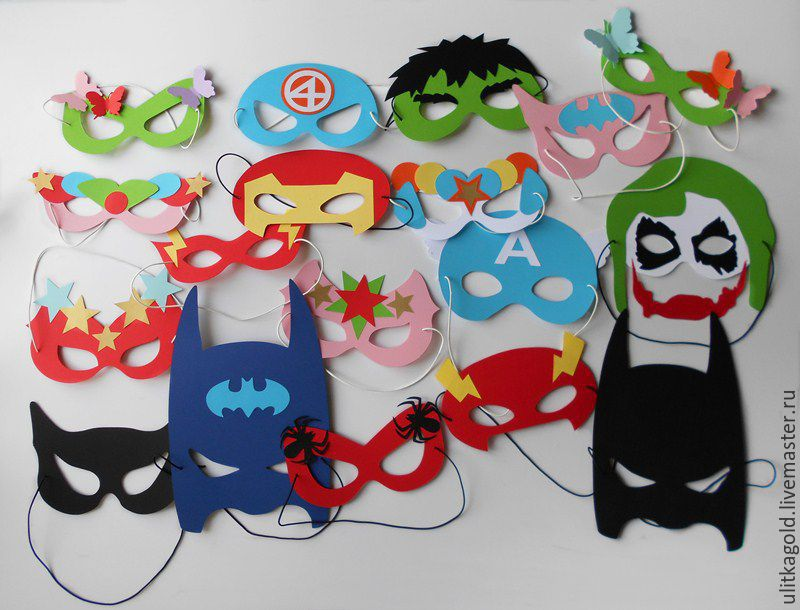 Как сделать маску для супергероя 82