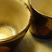 """Посуда ручной работы. Ярмарка Мастеров - ручная работа Пиалы """"Labrador tea"""". Handmade."""