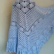 Аксессуары handmade. Livemaster - original item Shawl blue