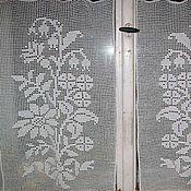 """Для дома и интерьера ручной работы. Ярмарка Мастеров - ручная работа шторки на окно """"Букет цветов"""". Handmade."""