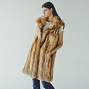 Одежда handmade. Livemaster - original item Long fox fur vest. Handmade.