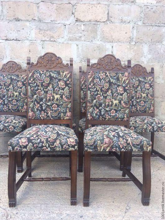 Винтажные предметы интерьера. Ярмарка Мастеров - ручная работа. Купить 6 стульев. Handmade. Комбинированный, Мебель