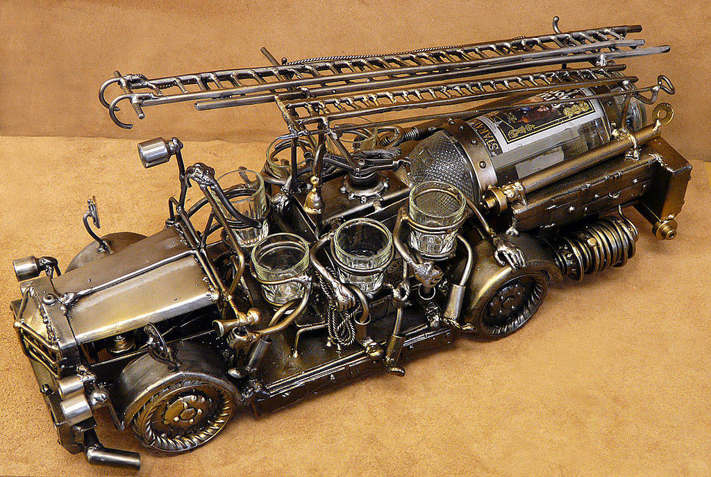 Машинка из металла своими руками 44