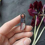 Украшения handmade. Livemaster - original item Copper pendant with pink tourmaline (rubellite). Handmade.