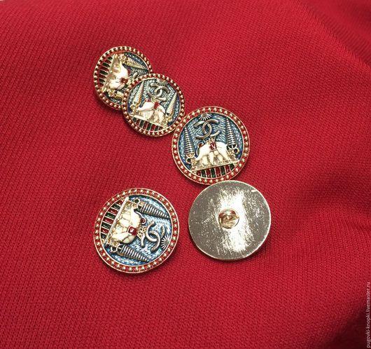 """Шитье ручной работы. Ярмарка Мастеров - ручная работа. Купить Пуговица в стиле Chanel """"Слоны"""" золото. Handmade. Пуговица, chanel"""