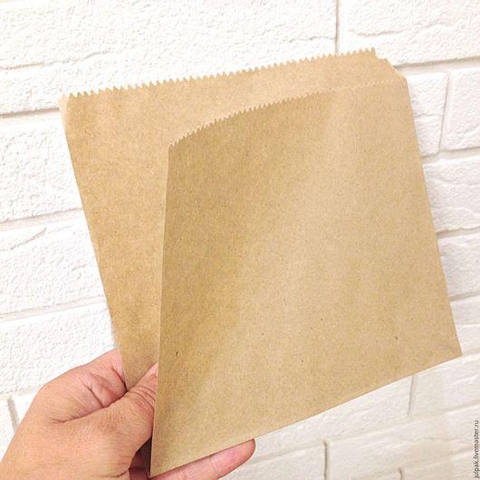 Упаковка ручной работы. Ярмарка Мастеров - ручная работа. Купить Уголок бумажный 17х17 см крафт. Handmade. Крафт пакет